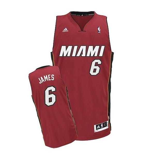 13d349b63 Camiseta NBA Swingman Lebron James Miami Heat (rojo blanco)