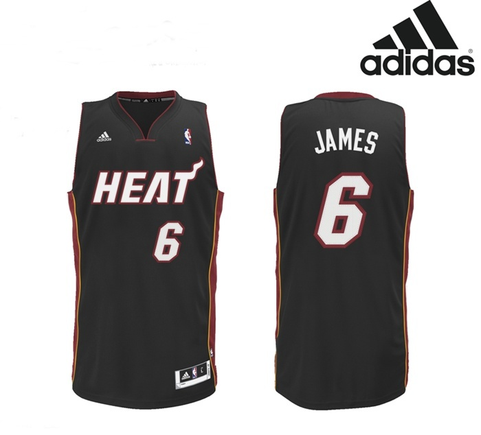 save off 58fde 8c2e4 Adidas NBA jersey Lebron James Miami (black)