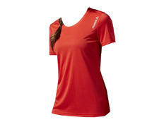 Reebok W Running Essentials Short Sleeve Tee (riot red) f628636192fa0
