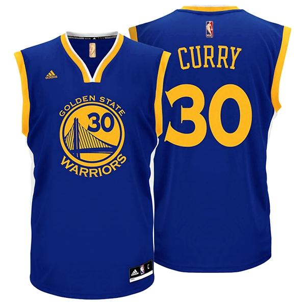 03ceda3b7 Adidas Camiseta Réplica Stephen Curry Warriors (azul amarillo)