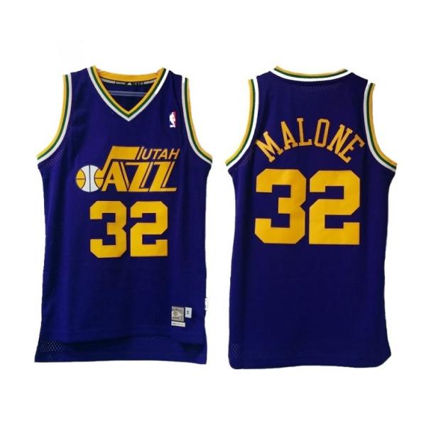 Adidas Camiseta Swingman Karl Malone Utah Jazz (purpura/amar