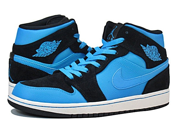 huge discount e3170 e44fd ... air jordan 1 mid blue night (017 negro azul celeste blanco)