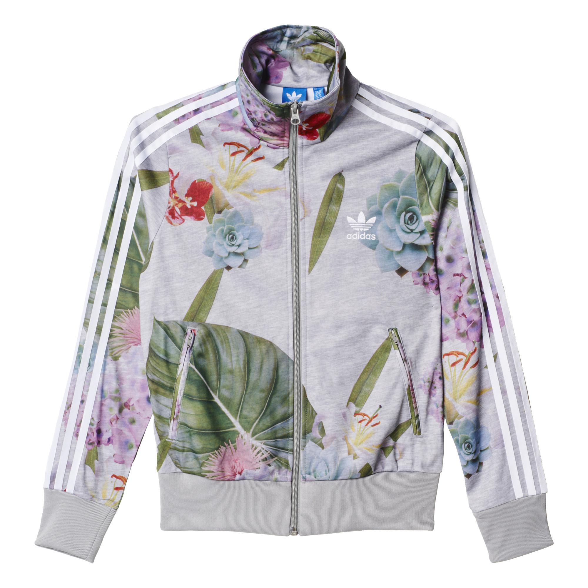 115886ce4edbf Adidas Originals Mujer Chaqueta Firebird Floral Track Top (gris multicolor)