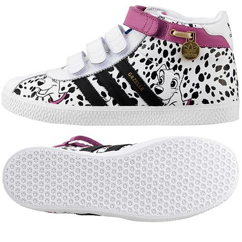 Adidas Gazelle 101 Dalmatas Mid Kids Girls (brancopreto)