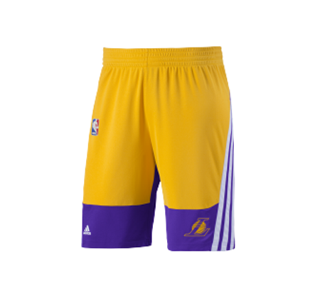 c7a676e22 Adidas NBA Winter Hps Angeles Lakers Short (amarelo brenco roxo)