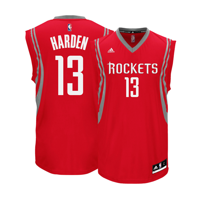 c00185d7c Adidas Camiseta Réplica James Harden  13  Rockets (rojo blanco gris)