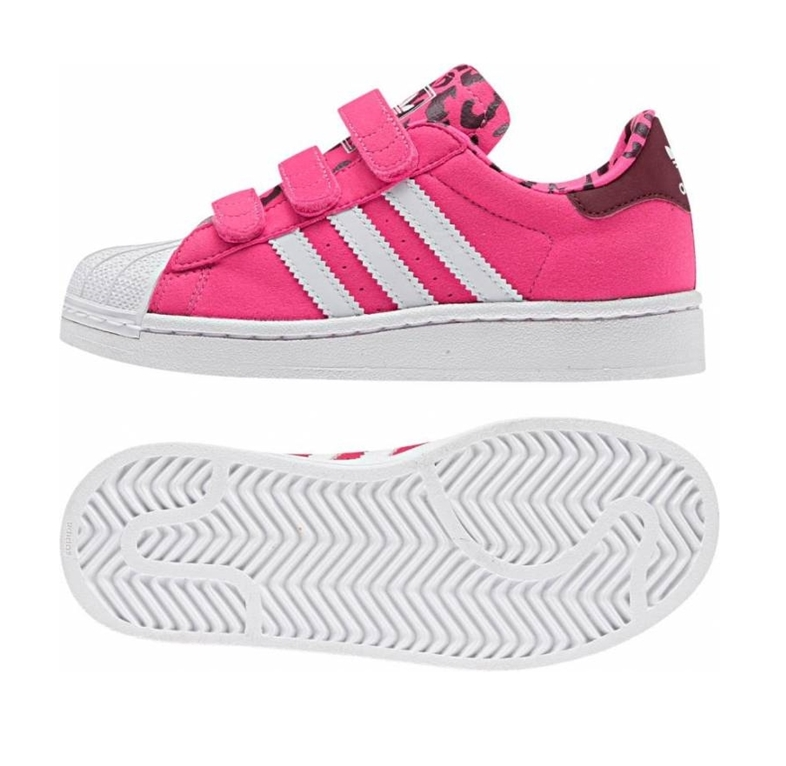 check out 52be1 d7305 Adidas Superstar 2 CF C (28-35/pink leopard/white)