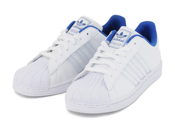 Adidas Superstar 2 IS K (36-39 branco azul) cc9cb852bc3c9