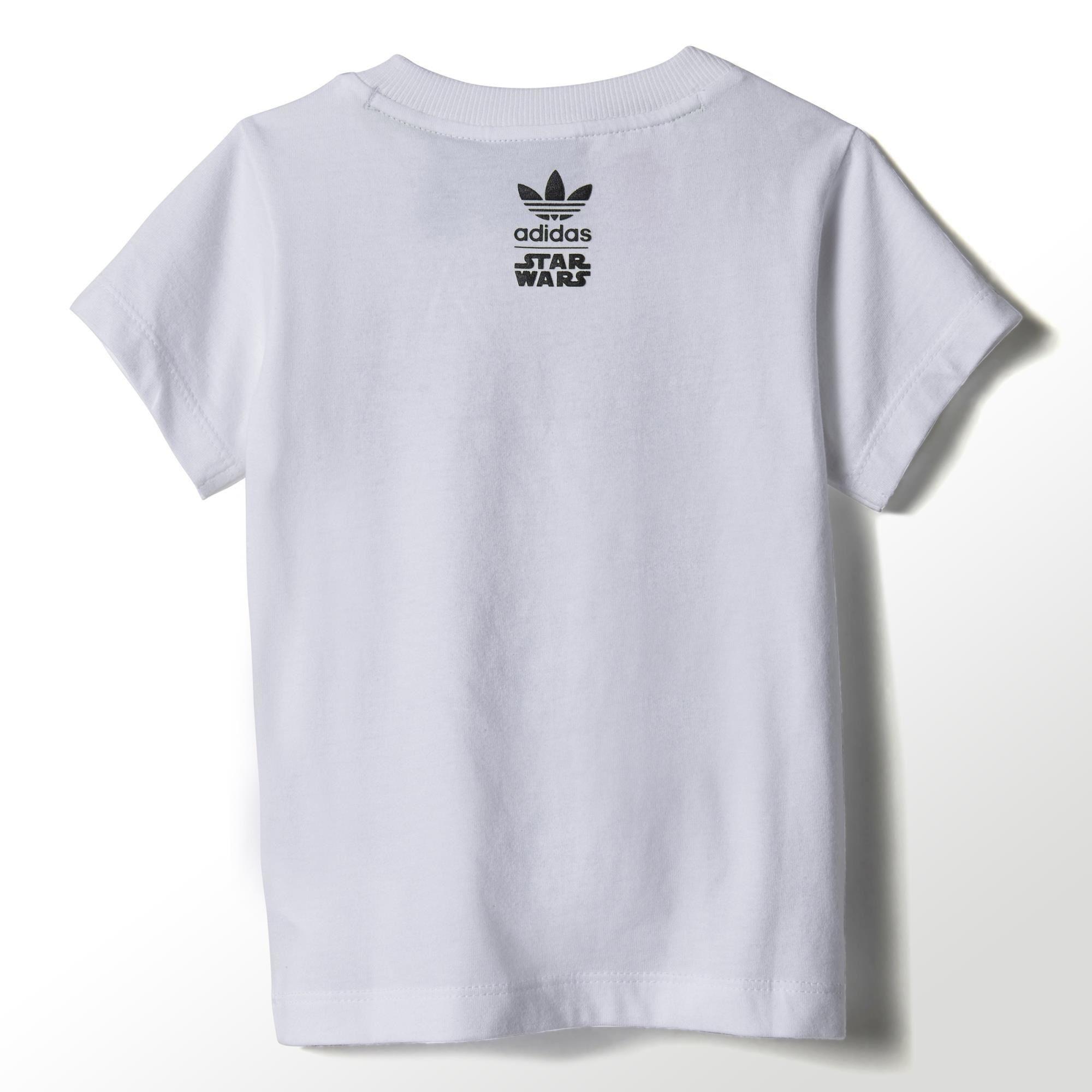 Adidas Originals Camiseta Infantil Star Wars Master Yoda (blanco