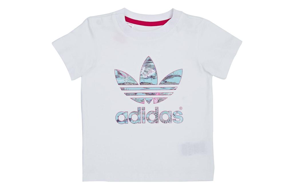 032b1fc2d0 Adidas Originals Camiseta Infantil Trefoil Flower (blanco)