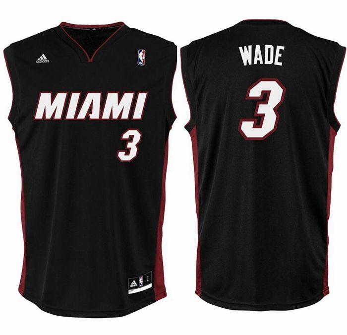 finest selection e6727 20424 Adidas Camiseta Réplica Wade Miami (preto)