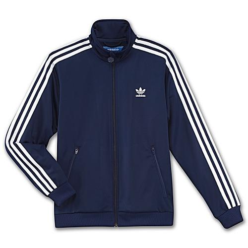 2647e390e7e8e Adidas Jaqueta Junior Firebird TT (azul marinho/branco)