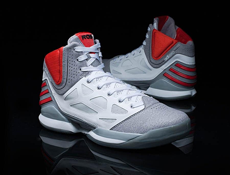 Adidas AdiZero Rose 2.5 (white/grey/red