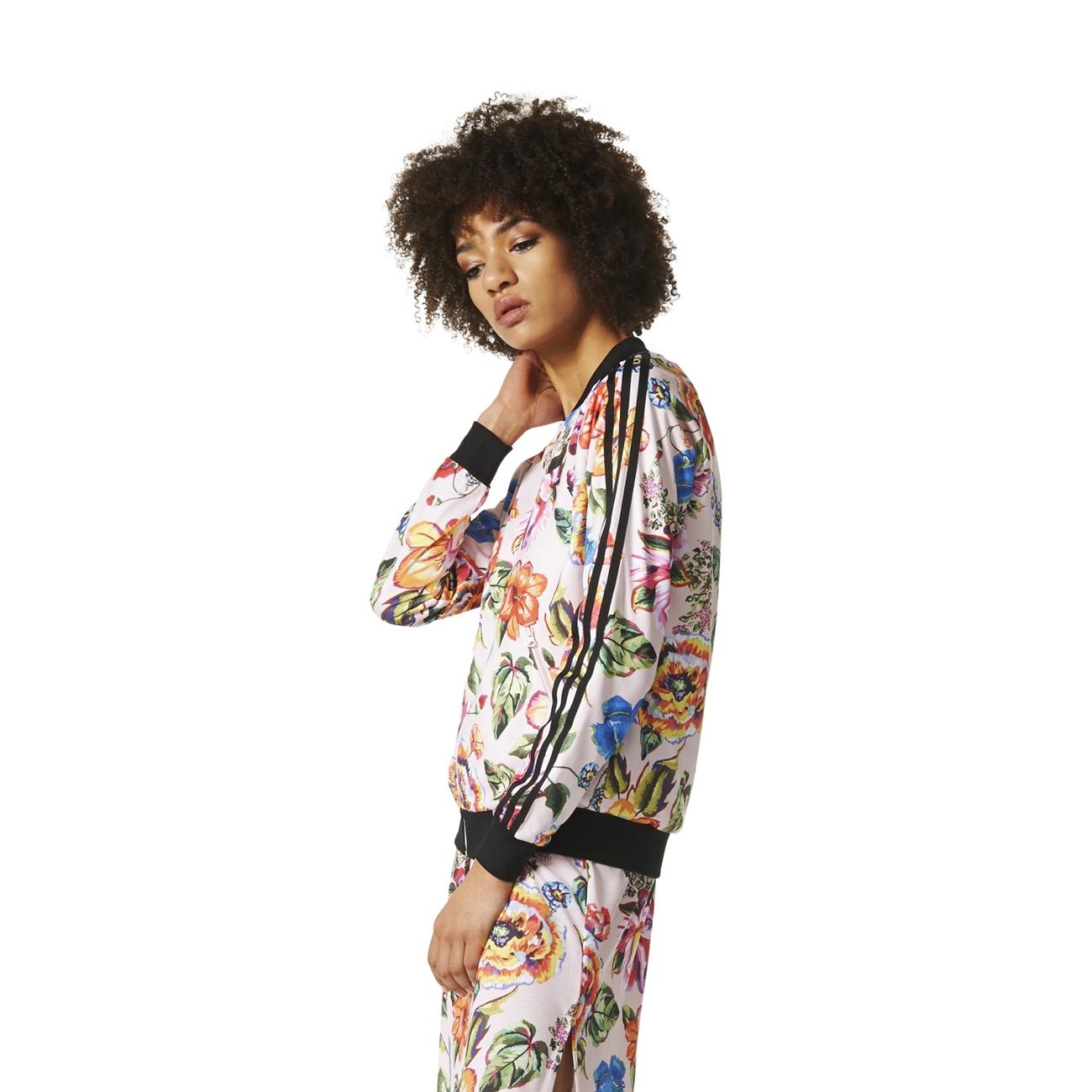 detailed look df4fd 91ce1 ... Adidas Originals Floralita Superstar Track Top