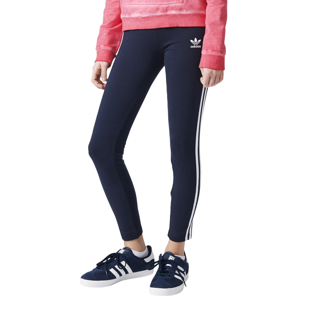 b87fca648954a Adidas Originals Junior Leggings (Legend Ink S/10/White)