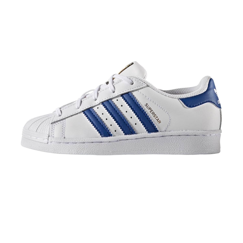 low priced 82c07 748e1 Adidas Originals Superstar Foundation Junior (blanco azul oro)