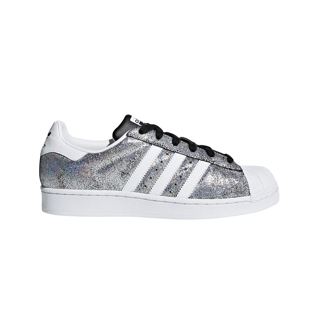 Tenis adidas Superstar W Branco Metalizado Original