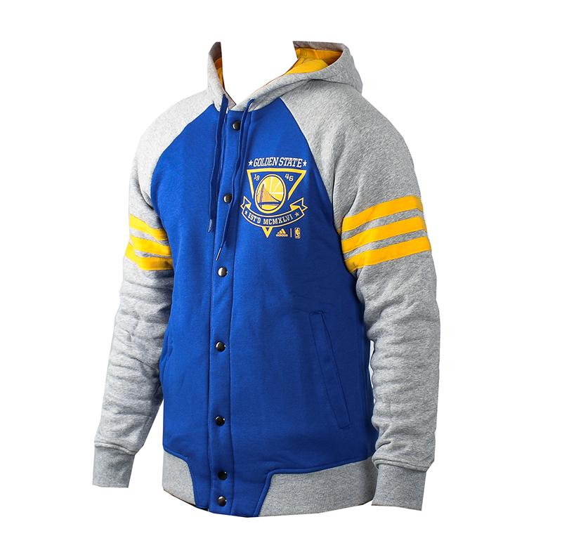 9ab9fe70e6c97 Adidas Washed Baseball Jacket Golden State Warrios (Azul Gris Amarillo)