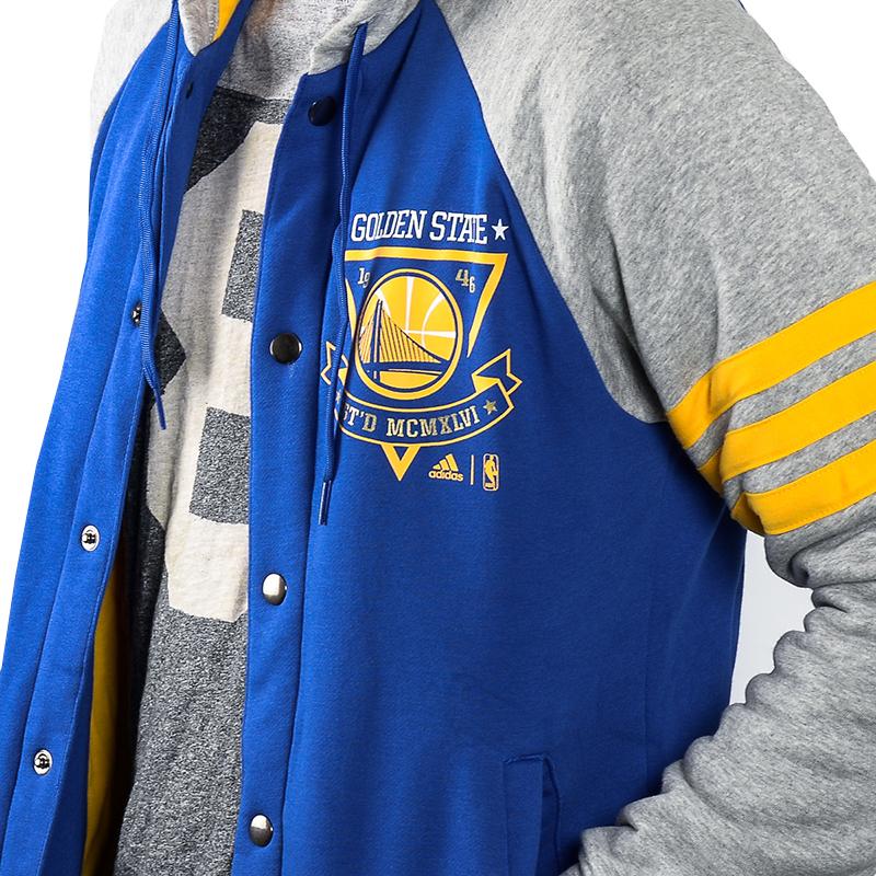db584a78a64e6 ... Adidas Washed Baseball Jacket Golden State Warrios  (Azul Gris Amarillo)