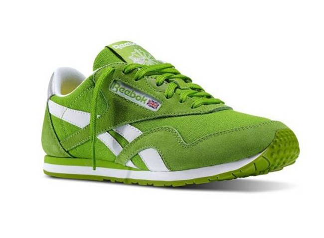 a95ec84e6fa ... Reebok Classic Nylon Slim Pop (Verde Blanco) Zapatillas Reebok Classic  Leather ...